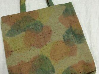 紬帯リメイクのトートバック 002の画像