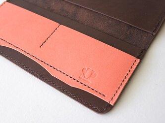 長財布 / simple ブラウン(アプリコットオレンジ)の画像