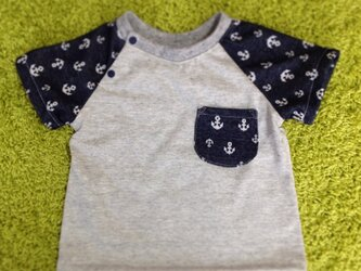男の子Tシャツ(イカリ柄)の画像