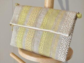手織り「2WAYバッグ ~黄色~」の画像