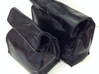 アンティーク紙袋風★クラッチバッグ【ブラック】の画像