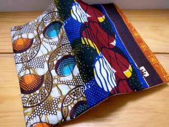 アフリカンカラフルブックカバーの画像