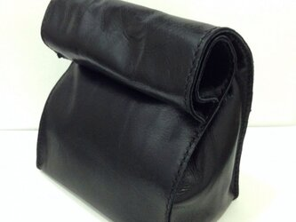 アンティーク紙袋風★バッグインバッグ【ブラック】の画像