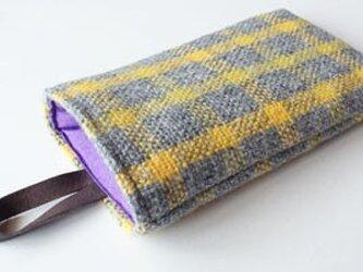 ウール手織り スマホケースの画像