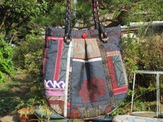 大型マチ付バッグ 一点品の画像