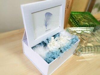 サムシングブルーのリングピロー【プリザ】ウエディングに!の画像