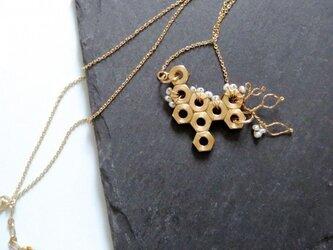 淡水パール ブロッサム ネックレスの画像