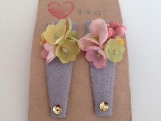 可愛い小花のヘアピン(G)の画像