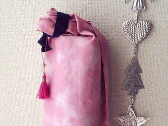 ダイダイ柄のヨガマットケース ピンクSの画像