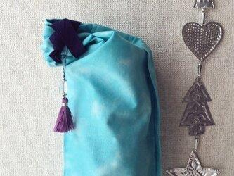 ダイダイ柄ヨガマットケース ブルーSの画像