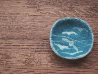 羊毛小皿/渡り鳥の画像