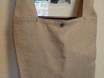 リネンの買い物 エコバッグ その2 ベージュの画像