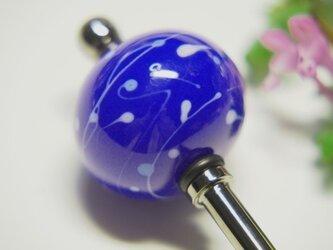 水風船模様とんぼ玉のかんざし 青の画像