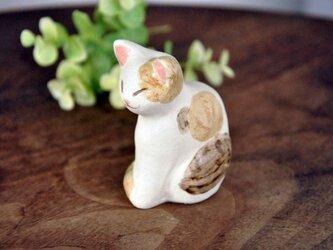 ひなたぼっこ猫のオブジェ(三毛)(05)の画像