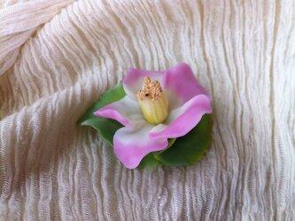 椿のブローチの画像