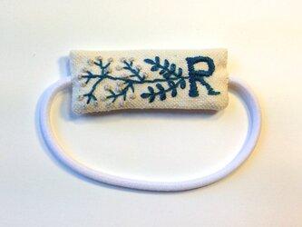 刺繍ヘアゴム・Rの画像