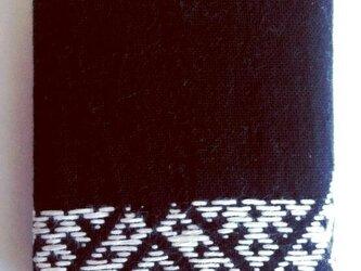こぎん刺し カードケース(24ポケット)③ あずみ野木綿の画像