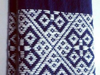 こぎん刺し カードケース(24ポケット)④ あずみ野木綿の画像
