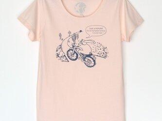 ウサギくんのTシャツ lady's pink×navyの画像