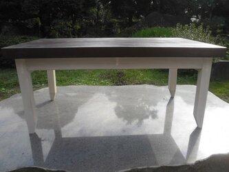 ベイマツ(ピイラ) ローテーブル アンティーク風の画像