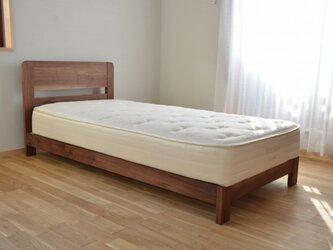 ウォールナットのベッドフレーム(S)の画像