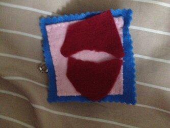 kissマーク ワインレッドの画像