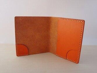 スリムなお札&カード入れ オレンジの画像