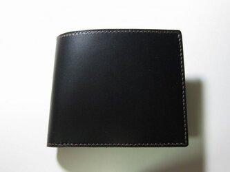 二つ折り財布(黒)の画像