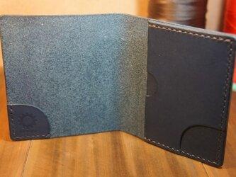スリムなお札&カード入れ ブルーの画像