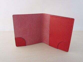 スリムなお札&カード入れ レッドの画像