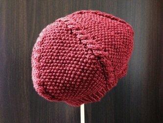 ベレー帽(レンガ色)の画像