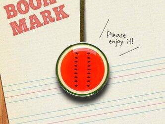 「スイカ柄のクリップ型ブックマーク」no.022の画像
