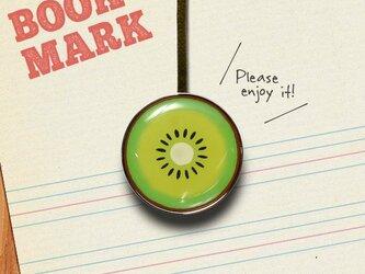 「キウイ柄のクリップ型ブックマーク」no.024の画像