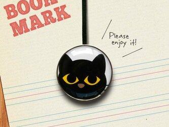 「大きな目をした黒ネコのクリップ型ブックマーク」no.041の画像