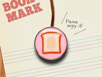 「食パン柄のクリップ型ブックマーク」no.181の画像