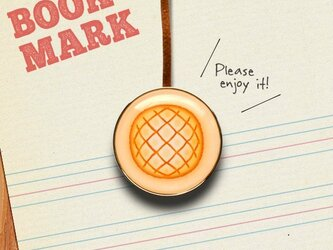 「メロンパン柄のクリップ型ブックマーク」no.183の画像