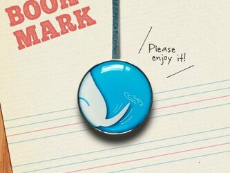 「しっぽ柄のクリップ型ブックマーク(青)」028の画像
