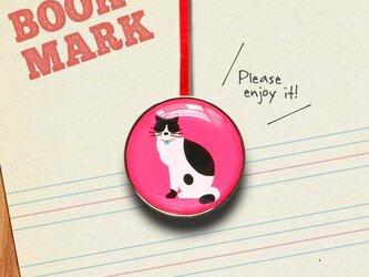 「黒ぶちネコのクリップ型ブックマーク」No.135の画像