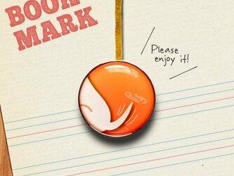「しっぽ柄のクリップ型ブックマーク(黄)」no.027の画像