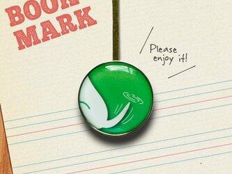 「しっぽ柄のクリップ型ブックマーク(緑)」030の画像