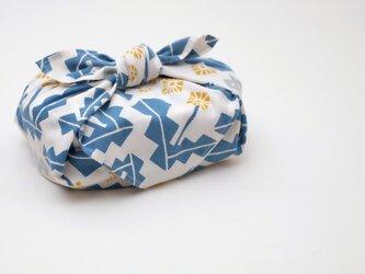 手刷り生地のハンカチ・お弁当包み「タンポポ」の画像