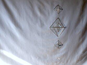 ガラスのモビールサンキャッチャーSL ヒンメリ3連の画像