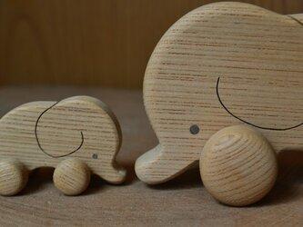 ゾウさんの木のオモチャ♪超丁寧手作り♪の画像