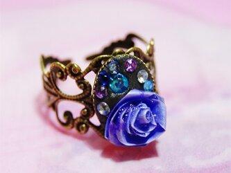 青薔薇の指輪の画像
