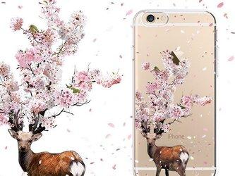 鹿桜プリントケース iPhone7 iPhoneケース各種 スマホケースの画像