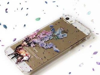 ホロ☆鹿桜プリントケース iPhone8 iPhoneケース各種 スマホカバーの画像