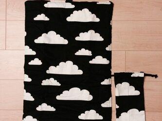 モノトーン 雲柄 ドット お世話マットの画像