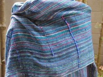 シルク手織ストールLの画像