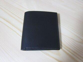 二つ折り財布 ミニ(黒)の画像