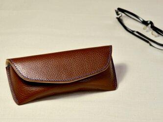 【14色から選んで作る】イタリアンレザー メガネケース Sサイズの画像